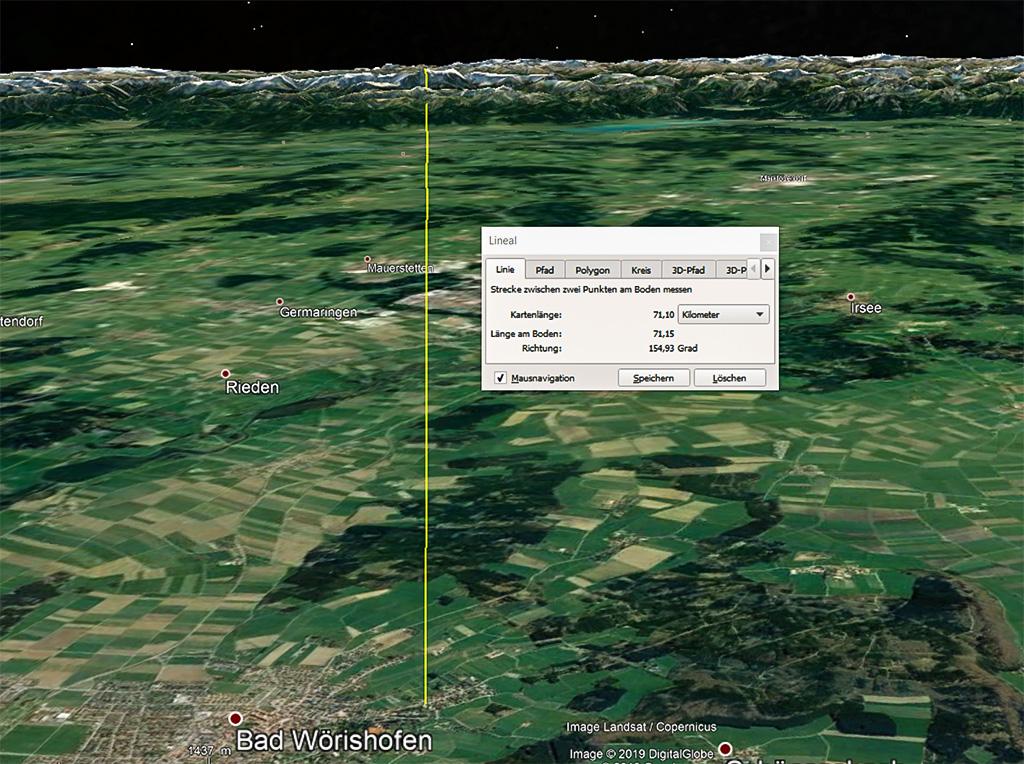 Google Earthmessung